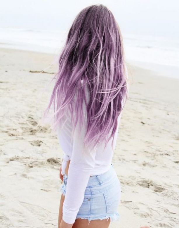 Les cheveux colorés